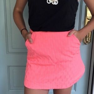 Topshop bright pink mini skirt with pockets